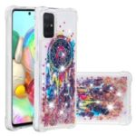 Liquid Glitter Powder Patterned Quicksand Shockproof TPU Case Covering for Samsung Galaxy A71 – Colorful Dream Catcher