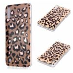 Marble Pattern Rose Gold Electroplating IMD TPU Back Case for Samsung Galaxy A10 / M10 – Leopard Texture