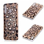 Marble Pattern Rose Gold Electroplating IMD TPU Back Case for Samsung Galaxy A20/A30 – Leopard Texture
