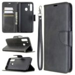 PU Leather Wallet Stand Case Cover for Samsung Galaxy A21 – Black