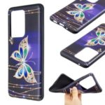 Pattern Printing Embossed TPU Shell Case for Samsung Galaxy S20 Ultra – Colorized Butterfly