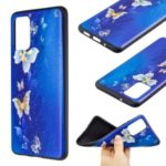 Pattern Printing Embossed TPU Case for Samsung Galaxy S20 Plus – Butterfly Pattern