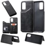 Card Holder Kickstand Leather Coated TPU Cover for Samsung Galaxy S20 Plus 6.7 inch – Black