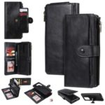Multi-functional Retro Detachable Leather Wallet Case for Samsung Galaxy S20 Ultra – Black