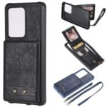 PU Leather+TPU with Card Holders [Vertical Flip] Cover for Samsung Galaxy S20 Ultra – Black