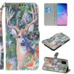 Light Spot Decor Patterned PU Leather Wallet Case for Samsung Galaxy S20 Ultra – Elk