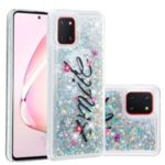 Pattern Printing Glitter Powder Quicksand TPU Back Shell for Samsung Galaxy A81/Note 10 Lite – Smile