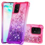 Gradient Glitter Powder Quicksand TPU Case for Samsung Galaxy A91/S10 Lite/M80s – Rose / Purple