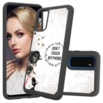 Pattern Printing Hybrid PC TPU Shockproof Phone Casing Cover for Samsung Galaxy S20 – Don't Touch My Phone
