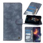 PU Leather Flip Phone Case Wallet Cell Phone Cover for Samsung Galaxy S20 – Blue