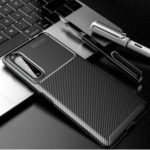 Drop Resistant Carbon Fiber TPU Mobile Phone Back Cover for Sony Xperia 1 II – Black