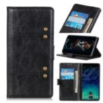 Rivet Decorated Wallet Leather Magnetic Phone Case for Sony Xperia 10 II – Black