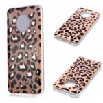 Marble Pattern Rose Gold Electroplating IMD TPU Back Case for Huawei Mate 30 – Leopard Texture