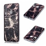 Marble Pattern Electroplating IMD TPU Back Shell for Huawei P30 Lite/Nova 4e – Black