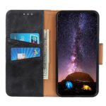 Crazy Horse Split Leather Magnetic Wallet Shell Cover for Huawei P40 lite E/Y7p – Black