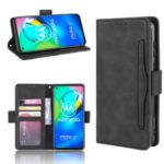 Wallet Stand Flip Leather Phone Shell for Motorola Moto G8 Power – Black