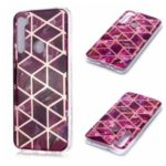 Marble Pattern Rose Gold Electroplating IMD TPU Shell Case for Xiaomi Redmi Note 8 – Rose