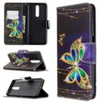 Pattern Printing Wallet Leather Stylish Cover for Xiaomi Redmi K30 – Gold Butterfly