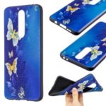Pattern Printing Embossed TPU Case for Xiaomi Redmi K30 – Butterfly Pattern