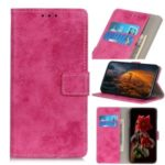 Vintage Style Leather Wallet Stand Cover Case for Xiaomi Mi 10 5G/Mi 10 Pro 5G – Rose