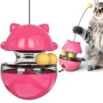 For Cat Tumbler Turntable Toy Leakage Ball – Red