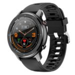 F12 Full Touch Round Screen Health Monitoring Waterproof Intelligent Bracelet Smart Watch [Silicone Strap] – Black