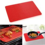 39*27cm Pyramid Pan Fat Reducing Non-Stick Silicone Cooking Mat Oven Baking Tray