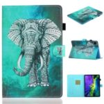 Pattern Printing Card Slots Flip Leather Phone Cover for iPad Pro 11-inch (2020) – Elephant