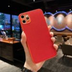 Cloth Surface TPU + PC Phone Cover [Precise Camera Cut-out Hole Design] for iPhone 11 Pro Max 6.5 inch – Red