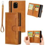 Multiple Card Slots Split Leather Wallet Phone Cover Case for iPhone 11 Pro Max 6.5-inch – Brown