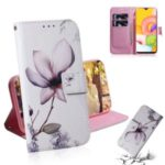 Pattern Printing Wallet Leather Phone Case for Samsung Galaxy A01 – Vivid Flower