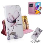 Pattern Printing Wallet Leather Cover Phone Case for Samsung Galaxy A21 – Vivid Flower