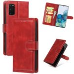 Wallet Leather Stand Phone Cover for Samsung Galaxy S20 – Red