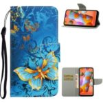 Pattern Printing Magnetic Leather Wallet Case for Samsung Galaxy A11 – Butterflies