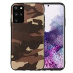 Camouflage Pattern TPU Shell Case for Samsung Galaxy S20 Plus – Brown