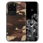 Camouflage Pattern TPU Back Case for Samsung Galaxy S20 Ultra – Brown