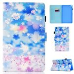 Pattern Printing Leather Stand Case with Card Slots for Samsung Galaxy Tab S6 Lite P610 P615 – Beautiful Flowers