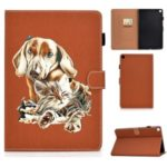 Pattern Printing Stand Leather Card Holder Case for Samsung Galaxy Tab S6 Lite P610 P615 – Dog