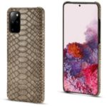 Snake Skin PU Leather Coated PC Hard Case for Samsung Galaxy S20 Plus – Grey