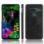 Litchi Texture PU Leather Coated Plastic Cover for LG G8s ThinQ – Black