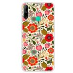 Pattern Printing Soft TPU Back Case for Huawei Y7P / P40 lite E – Red Flower