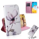 Pattern Printing Leather Stand Case with Card Slots for Huawei P40 Pro – Beautiful Flowers
