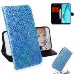 Flower Style Magnetic Leather with Stand Case for Huawei P40 lite – Blue