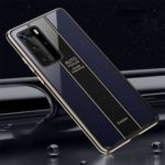 Electroplated PC + TPU Hybrid Shell Case for Huawei P40 Pro – Black