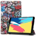 Pattern Printing Leather Tri-fold Stand Tablet Case Cover for Lenovo Tab M8 – Cartoon Pattern
