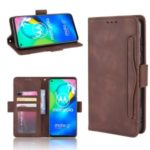 Wallet Stand Flip Leather Phone Cover with Multiple Card Slots for Motorola Moto G8 – Coffee