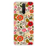 Pattern Printing Soft TPU Phone Cover for Xiaomi Redmi K30 – Red Flower