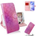 Flower Pattern Leather Wallet Stand Case for Xiaomi Redmi K30 – Pink
