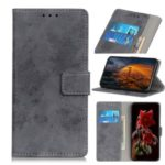 Vintage Style Cell Phone Leather Wallet Case for Alcatel 1B (2020) – Grey