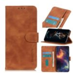KHAZNEH Vintage Leather Phone Protective Case with Wallet for ZTE Blade A3 (2020) – Brown